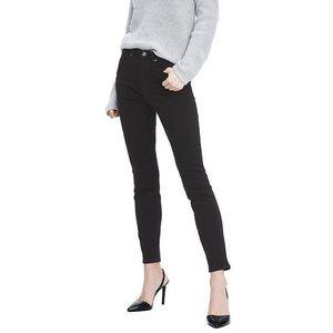Banana Republic High Rise Black Skinny Ankle Jeans